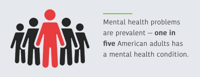 1 in 5 American Adults has a mental health condition