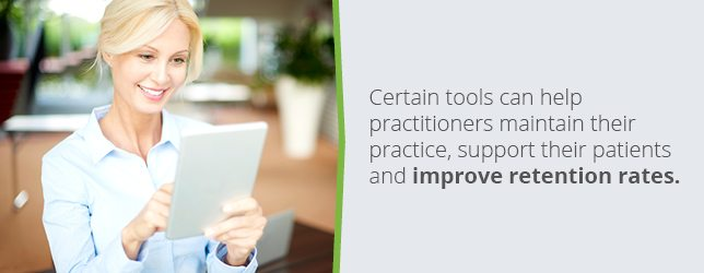 Tools can help practitioners maintain their practice and provide better support for their patients
