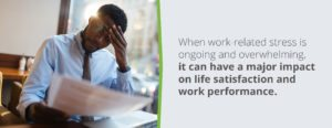 Work-related stress has a major impact on satisfaction and performance