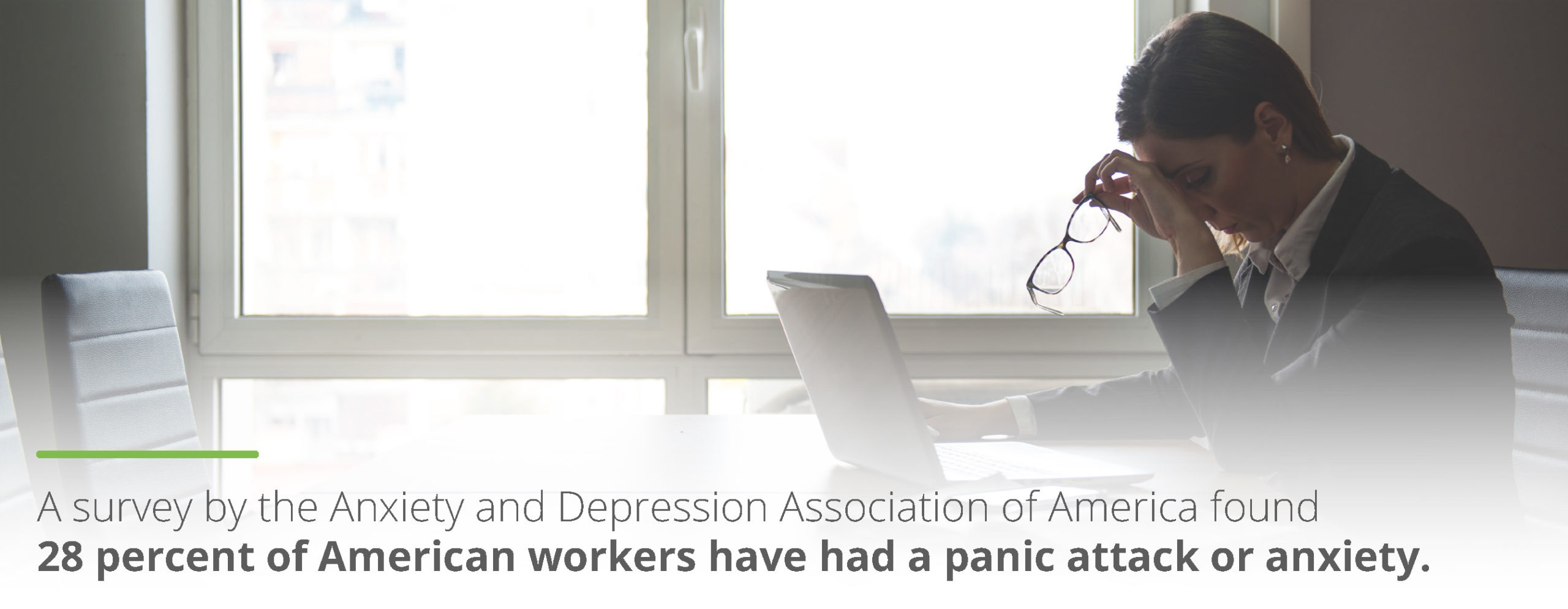 28% of American workers have had a panic attack or anxiety