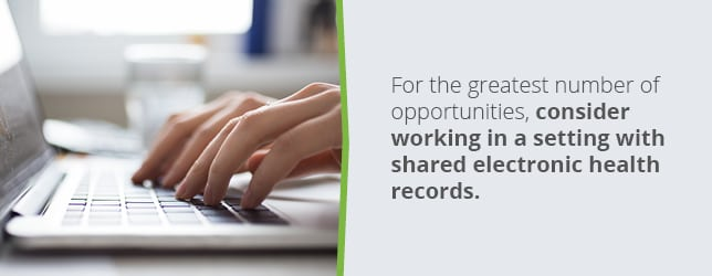 More opportunities are available in areas with shared electronic health records