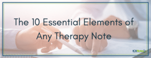 The 10 Essential Elements of Any Therapy Note