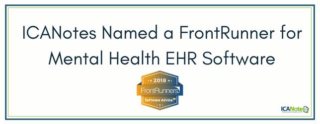 ICANotes Named a FrontRunner for Mental Health EHR Software