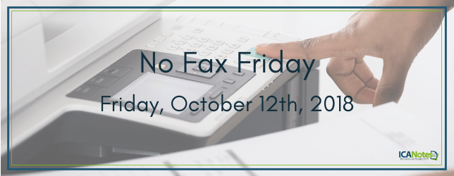 No Fax Friday on October 12th, 2018