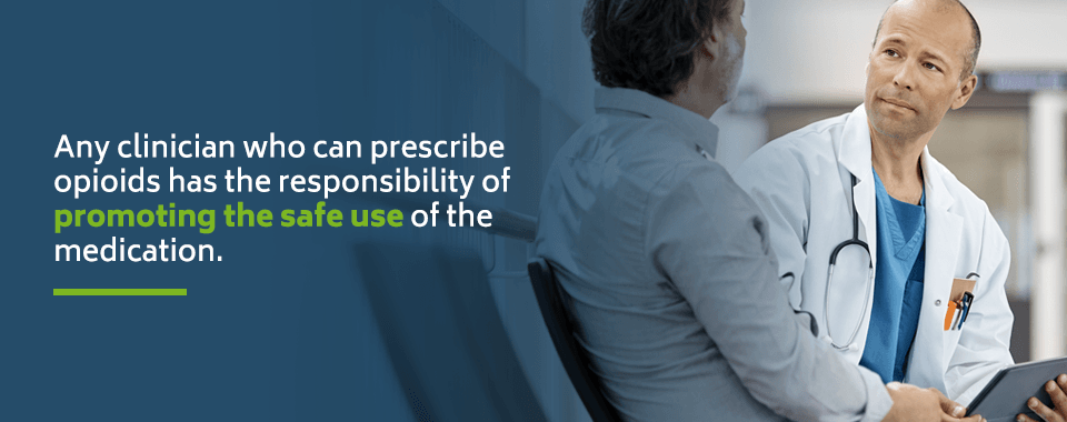 Any clinician who can prescribe opioids has the responsibility to promote using them safely.