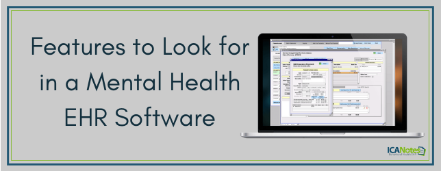 Features to Look for in a Mental Health EHR Software