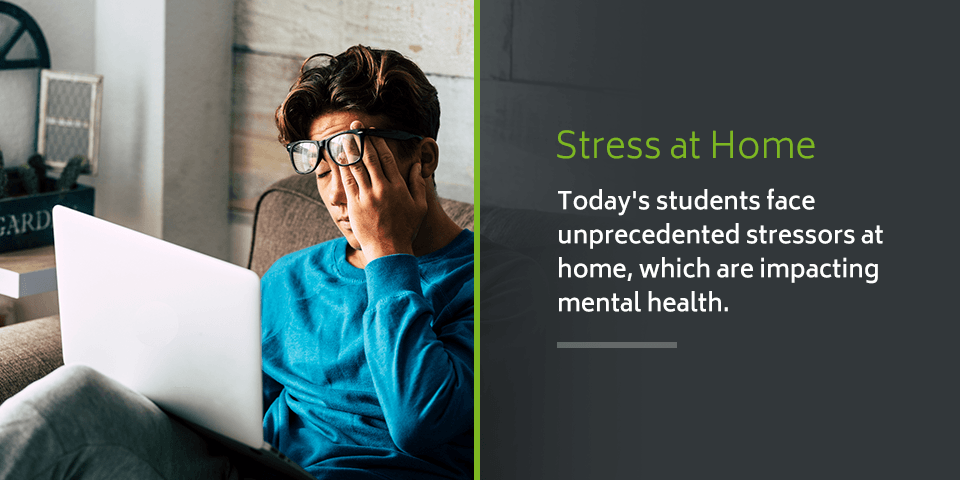 Stress at home impact on student mental health