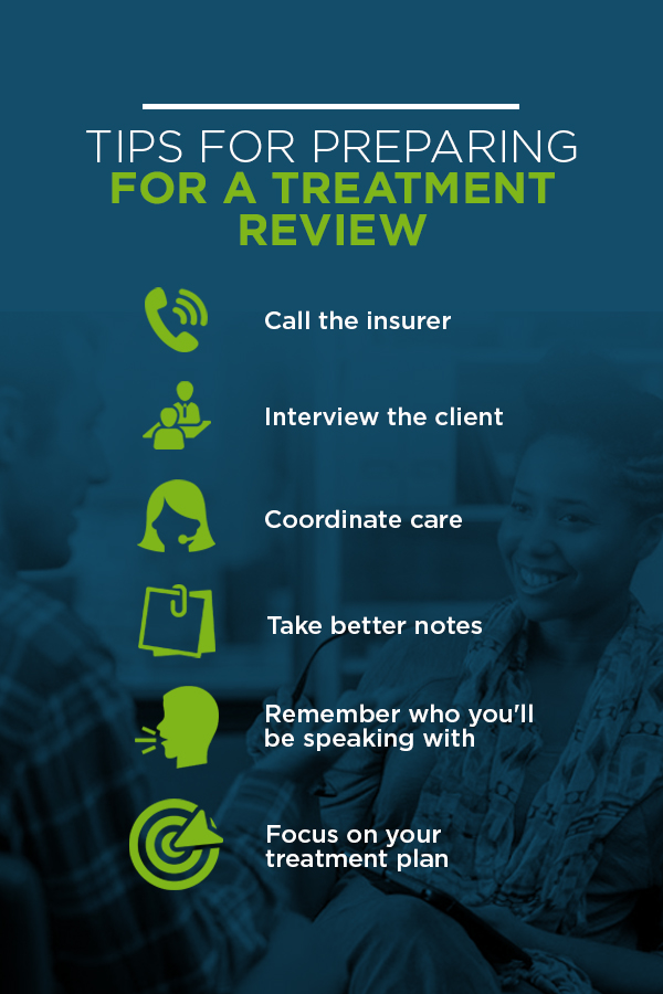 How to Prepare for an Insurance Treatment Review | ICANotes
