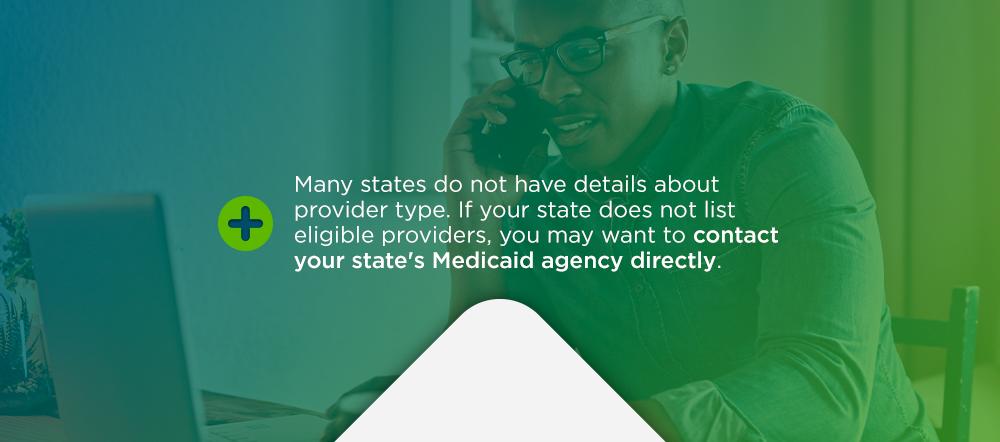 Behavioral health care provider type