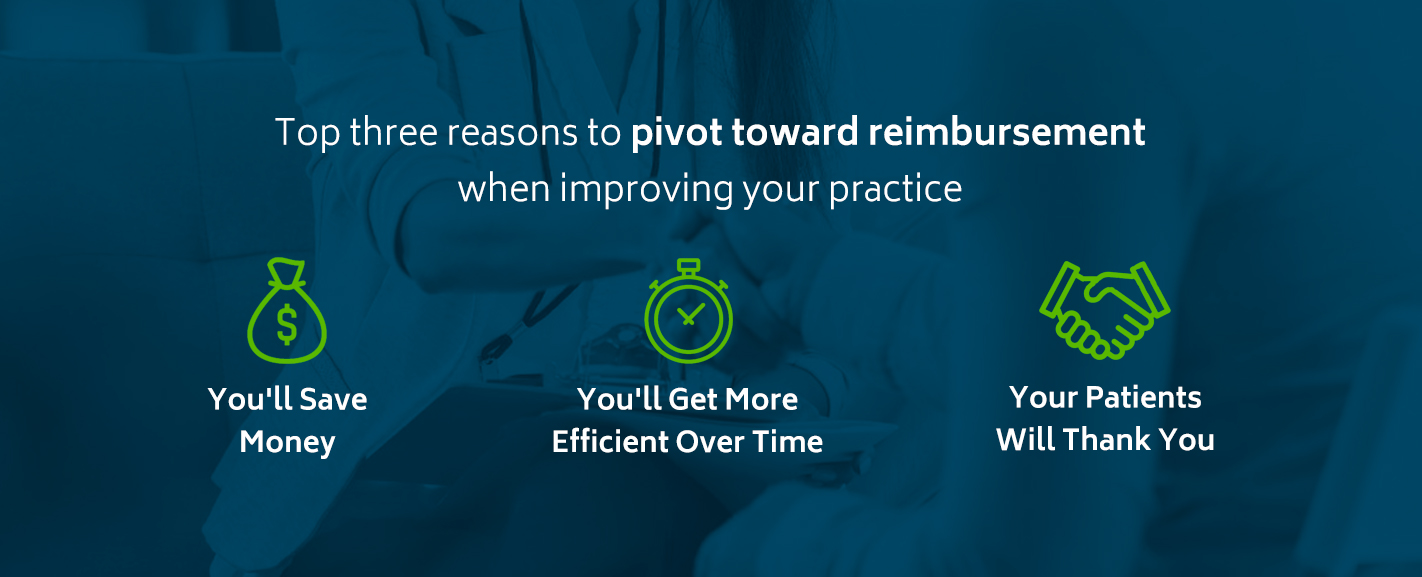 Top 3 reasons to pivot toward reimbursement when improving your practice