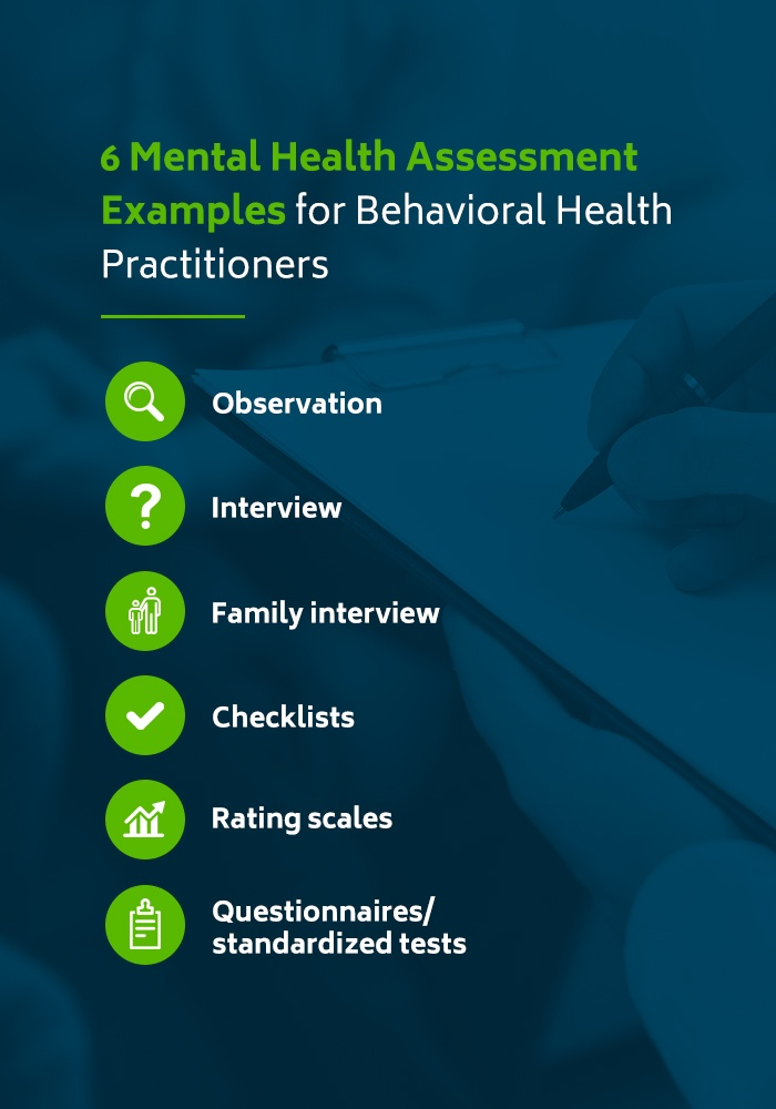 6 Mental Health Assessment Examples for Behavioral Health Practitioners