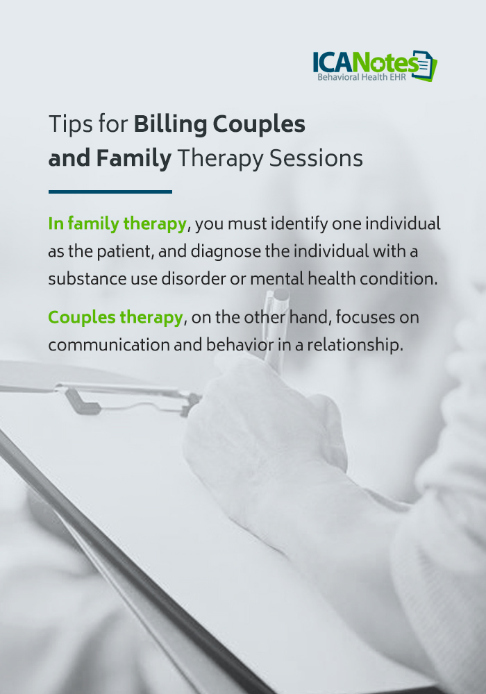 Tips for billing couples and family therapy sessions