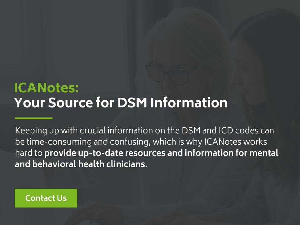 DSM Information ICD Code Updates