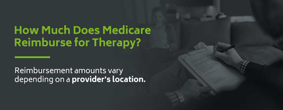 How much does medicare reimburse for therapy