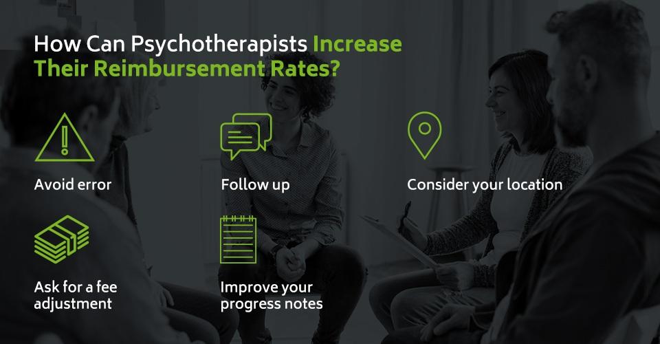 How can psychotherapists increase their reimbursement rates?