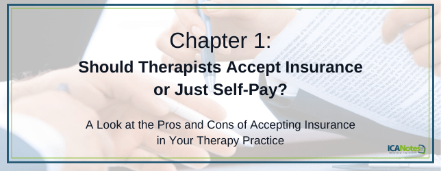 Should therapists accept insurance or just self pay