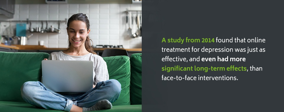 Statistics on the effectiveness of teletherapy