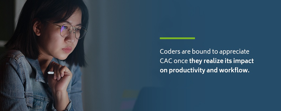 Benefits of CAC on coding productivity and workflow