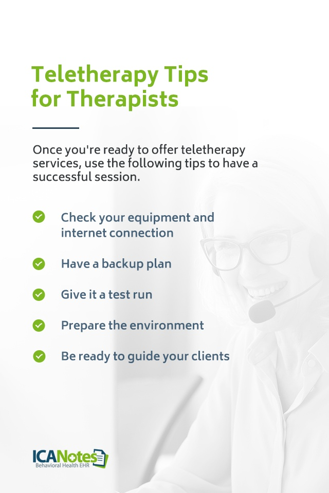 Teletherapy tips for Therapists