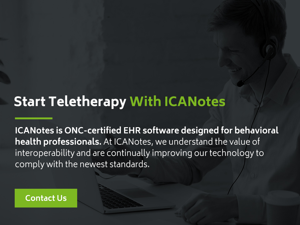 ICANotes Teletherapy EHR Software