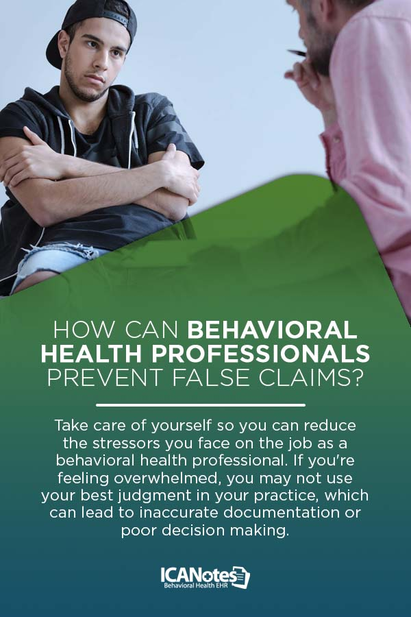 False Claims Behavioral Health Clinicians