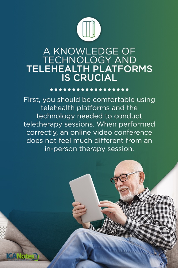 What tech is needed for teletherapy