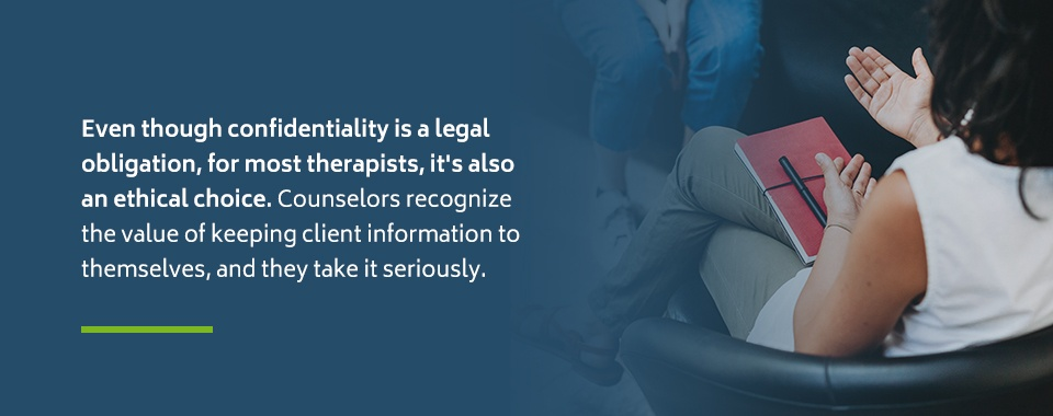 Therapist Confidentiality Requirements