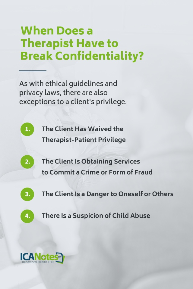 When Does a Therapist Have to Break Confidentiality?