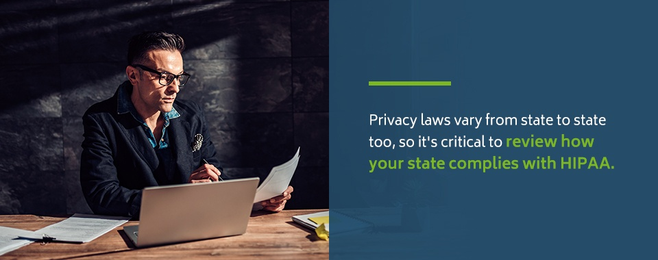 HIPAA Compliance Laws by State
