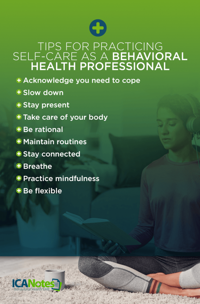 Tips for Practicing Self-Care as a Behavioral Health Professional