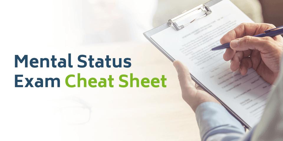 Mental Status Exam Cheat Sheet