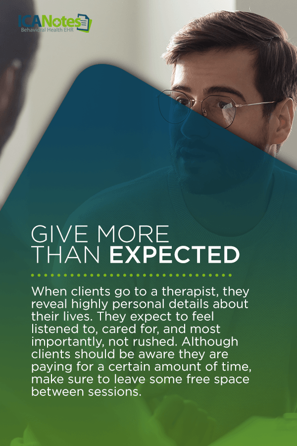 Give more than expected