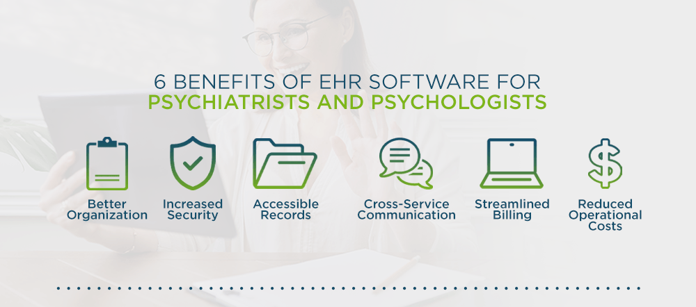 Top 6 Benefits of EHR Software for Psychologists and Psychiatrists