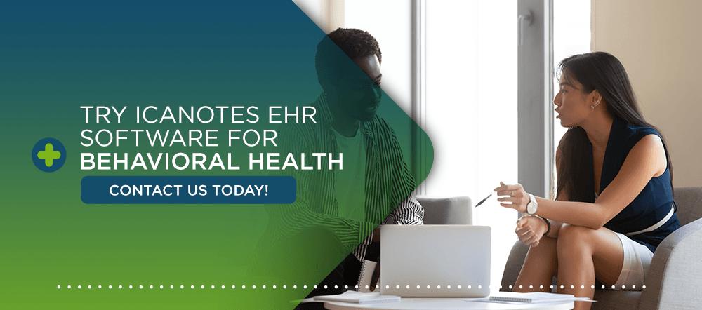 ICANotes EHR software for behavioral health