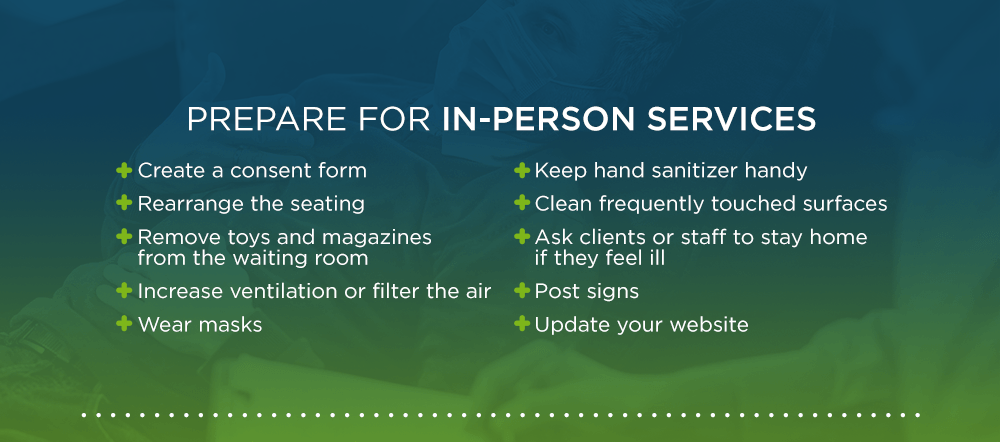 How to prepare for in-person mental health services