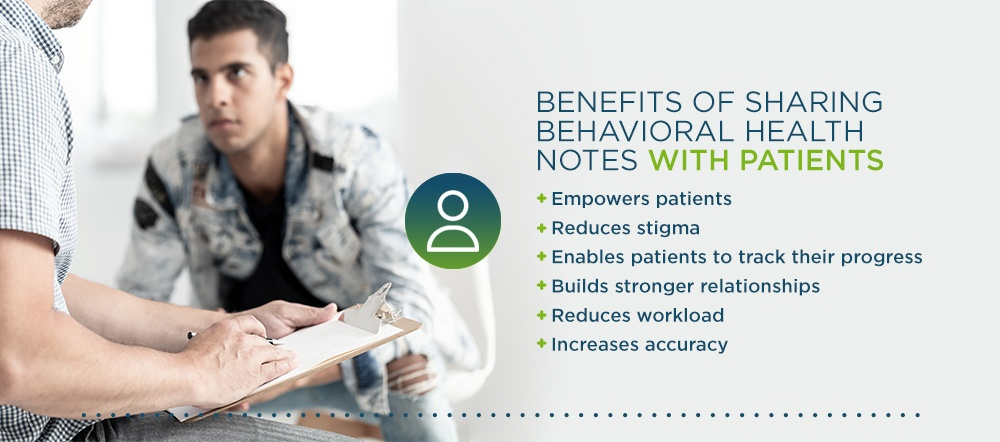 Benefits of Sharing Behavioral Health Notes with Patients