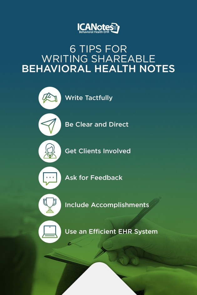 Tips for Writing Shareable Behavioral Health Notes