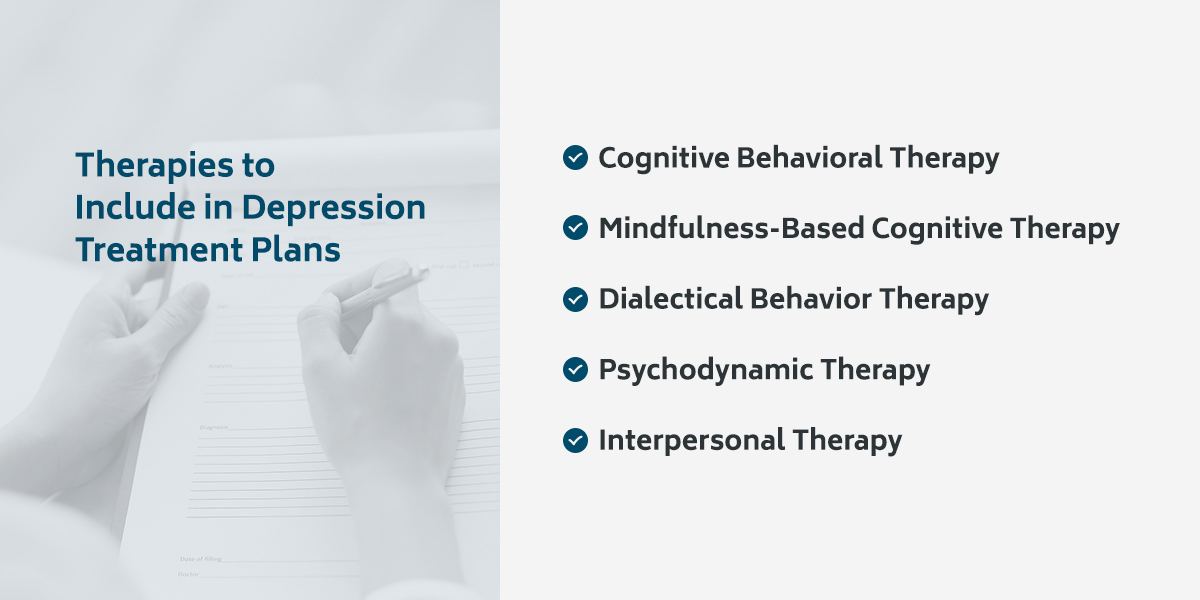 Therapies to include in depression treatment plans