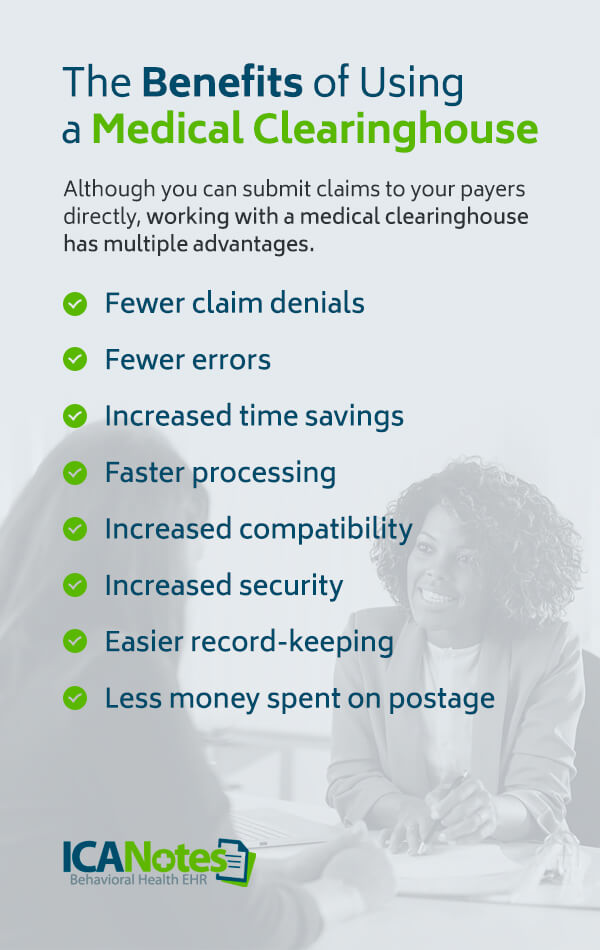 Benefits of using medical clearing house for billing
