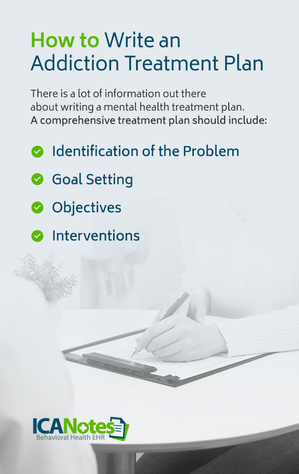 How to write an addiction treatment plan