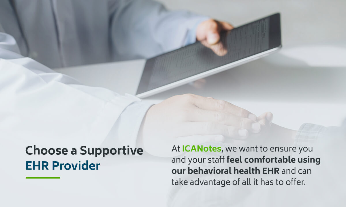 Choose a Supportive EHR Provider