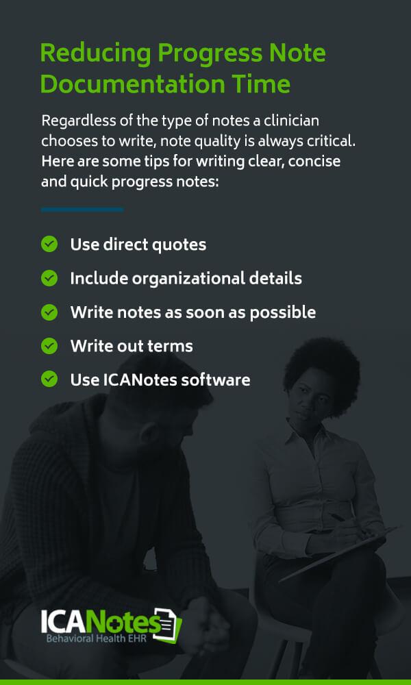 Reducing Progress Note Documentation Time
