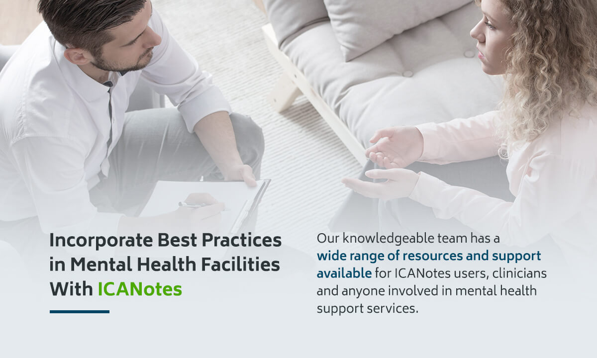 Incorporate Best Practices in Mental Health Facilities With ICANotes