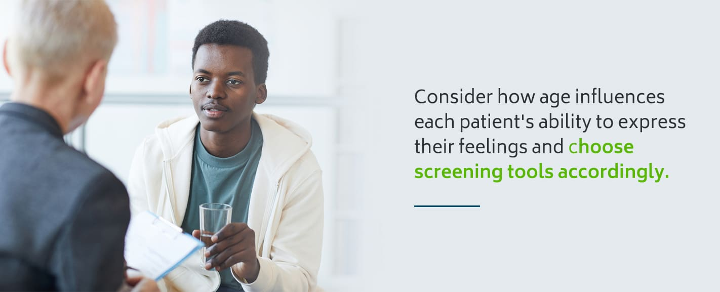 Mental health screening tools for different ages