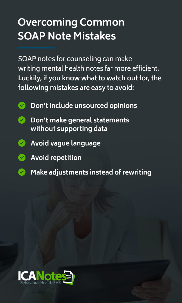 Common SOAP Note Mistakes